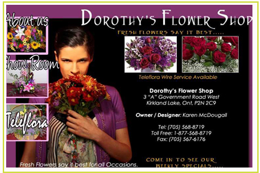 Dorothys Flower Shop Kirkland Lake