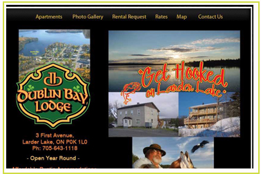 Dublin Bay Lodge - Get Hooked on Larder Lake - Fully furnished Accommodations overlooking Larder Lake