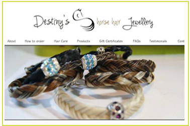 Destiny's Horse Hair Jewellery
