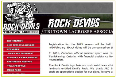 Rock Devils and the Tri Town Lacrosse Association.