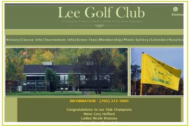 Lee Golf Club Cochrane Ontario
