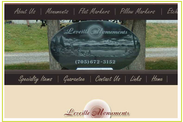 Leveille Monuments  Buffam Leveille Funeral Home in the City of Temiskaming Shores in the former town of Haileybury.