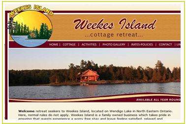 Weekes Island, located on Wendigo Lake in North Eastern Ontario