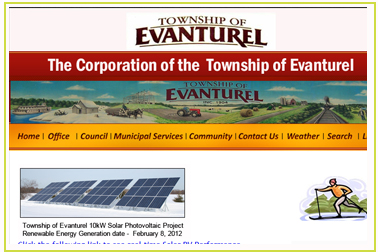 Township of Evanturel website